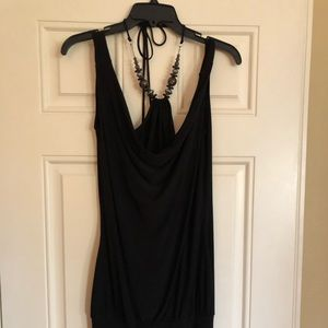 Dress with tie around neck